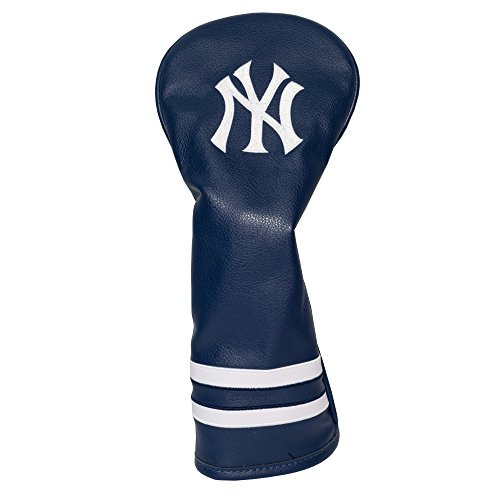 Team Golf MLB New York Yankees Vintage Fairway Golf Club Headcover, Form Fitting Design, Retro Design & Superb Embroidery,Team Color