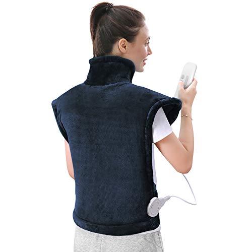 60 x 85 cm Heizkissen für Rücken Schulter Nacken Abschaltautomatik Wärmekissen und Schneller Heiztechnologie...