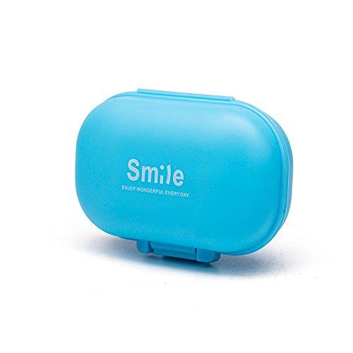 milopon IP4PILCASCOV PILL Box Box Pastillero Pastillero Organizador pastillero vitaminas Medicina Tablet Case para deportes, viajar y Exterior