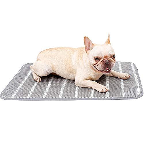 ETOPARS Estera de Enfriamiento de Verano Lavable para Perros Gatos, Alfombrilla para Perros de Malla 3D Transpirable, Cama de Perro y Gato para Verano Manta de Dormir Fresco Cojín