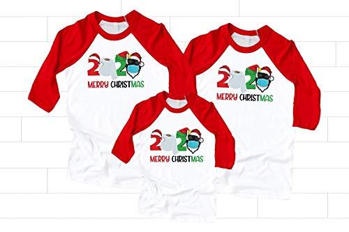 Matching Family Christmas Shirts, Quarantined Santa Shirts, 2020 Toilet Paper Quarantined, Christmas Pajamas Family Tees, Holyday Clothing