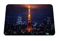 22cmx18cm マウスパッド (夜の街の街の明かり東京タワー) パターンカスタムの マウスパッド