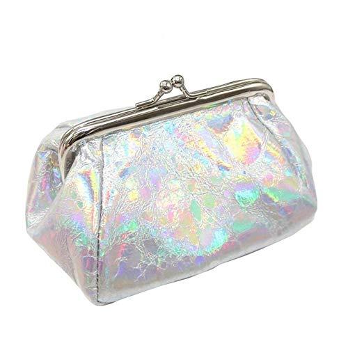 DASFNVBIDFAHB Caja de Maquillaje, cosmético Creativo Bolsa (Color : Silver)