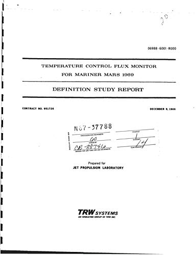 Temperature control flux monitor for Mariner Mars 1969 Definition study report (English Edition)