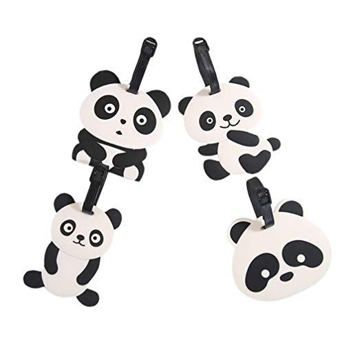 PRETYZOOM Etiquetas de Equipaje de Dibujos Animados Panda Etiquetas de Viaje Etiquetas de Maleta de Identificación de Viaje Etiquetas para Bolsas de Equipaje Maletas de Equipaje 4 Piezas