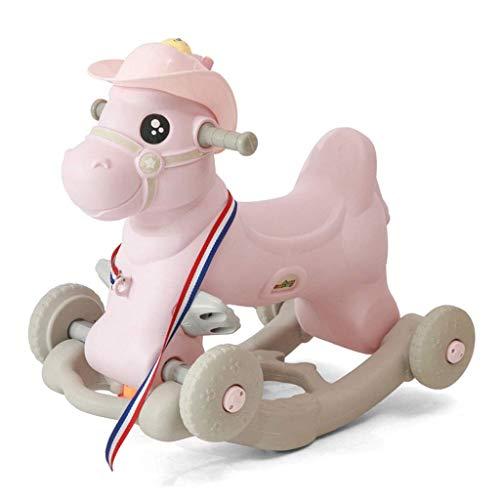 Sale!! Children's Rocking Car, Children's Large Plastic Rocking Horse Sliding Wooden Horse Dual-use,...