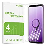 apiker [4 Stück TPU Schutzfolie für Samsung Galaxy S9, Samsung Galaxy S9 TPU Bildschirmschutzfolie, mit Positionierhilfe blasenfrei, hohe Definition, hohe Empfindlichkeit