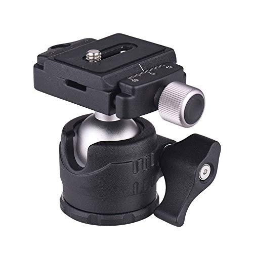 Trípode cabeza de trípode de 360 grados con placa de liberación rápida y nivel de burbuja adecuado para varias cámaras
