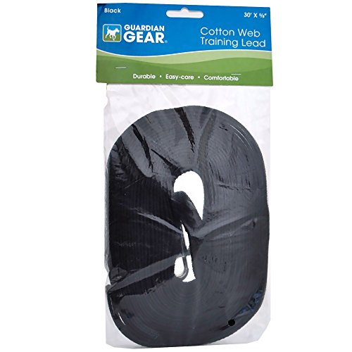 Guardian Gear Cotton Web Training Lead 30 Ft Black