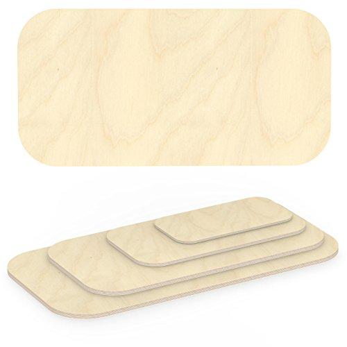AUPROTEC Multiplexplatte 27mm rechteckig 1400 mm x 700 mm Holzplatten von 40cm-200cm auswählbar Ecken Radius 100mm Sperrholz-Platten Birke Massiv Multiplex Holz Industriequalität z.B. als Tisch-Platte