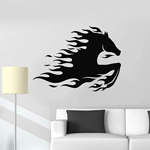 Calcomanías de pared de animales salvajes galopante mustang llama caballo puerta ventana vinilo pegatina dormitorio estudio oficina decoración para el hogar