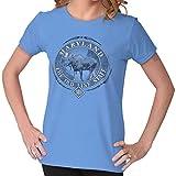 Classic Teaze Maryland Old Line State Mountain Moose MD Womens T Shirt Ladies Tee Carolina Blue