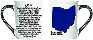 Cottage Creek Ohio Mug Large 18 Ounce Ceramic Ohio State Map Coffee Mug/Ohio Gifts [White]