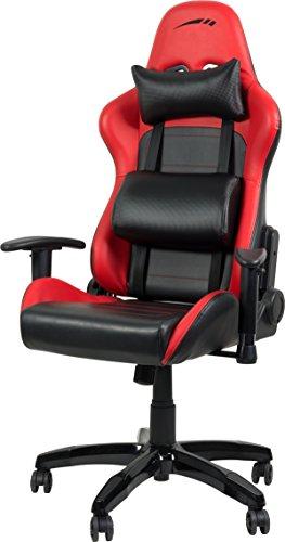 Speedlink REGGER Gaming Chair, Lederimitat, rot, 34.5 x 67 x 85 cm