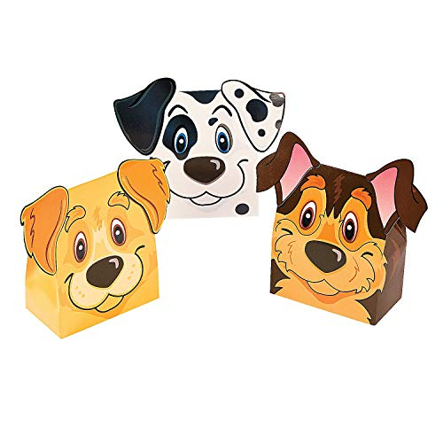 Fun Express - Puppy Party Favor Boxes for Birthday - Party Supplies - Containers & Boxes - Paper Boxes - Birthday - 12 Pieces