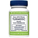 The Vitamin Shoppe Full Spectrum Turmeric with Turmerones 400MG, Easily Absorbed, Contains Supercritical Extract, Supports Joint Mobility (60 Liquid Capsules)