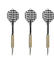 EUROXANTY® stalen dartpijlen   dartpijlen voor dartboard   messing stalen stangen   hoge vliegnauwkeurigheid   origineel vinnen design   3 stuks zwart