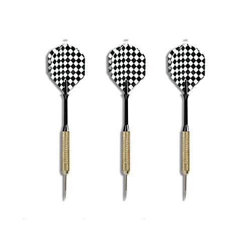 Steel Dartpfeile | Steel-Darts | Metallspitze Pfeile | EUROXANTY | Set von 3 | Schwarz