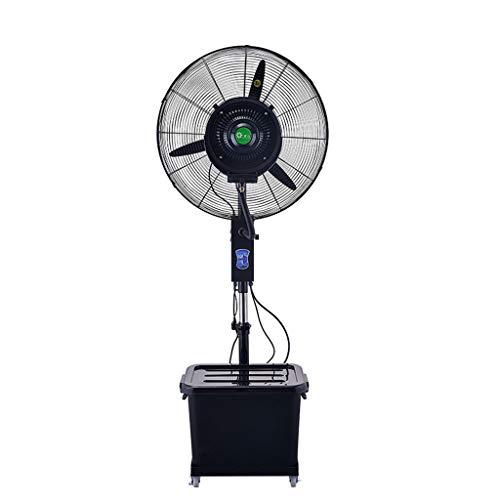 Ventiladores de Pedestal Ventilador de nebulización Industrial Ventilador de humidificación de Piso Ventilador centrífugo de Alta Potencia Ventilador oscilante con Ruedas/Tanque de Agua de 40 l Altu