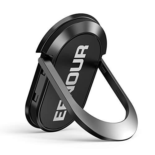 EENOUR スマホリング ホールドリング 薄型 携帯リング 強力固定 落下防止 360度回転 角度調整可能 スマホスタンド 車載マグネット式ホルダー対応 iPhone Xperia Galaxyなど全機種対応