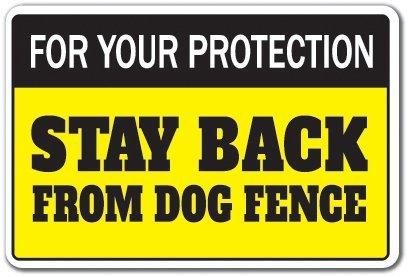 Mesllings voor uw bescherming Blijf terug van Hond Hek Teken Property Keep Out | Binnen/buiten | 10