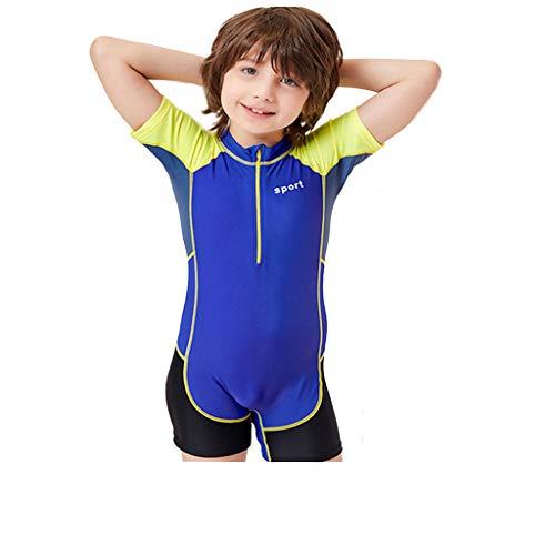 AmyGline Kinder Jugend Tauchanzug Siamesischer Kurzarm Sonnenschutz Schnorchelanzug Badeanzug Shorty Neoprenanzug Einteiler Swimsuit Wetsuit