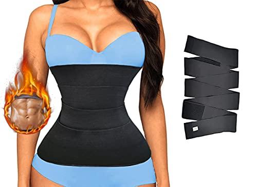 Ksmate Snatch Me Up Bandage Wrap pour femme - Invisible Wrap Waist Trainer Tape - Ceinture amincissante pour femme - Tighten The Waist and Abdomen, 4 mètres., M