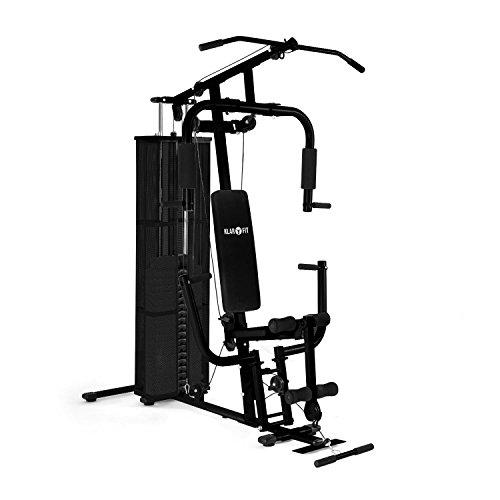 Klarfit Ultimate Gym 3000Stazione fitness Cyclette (Butterfly del modulo con seno Stampa, lat di comando, Comando e gamba strecker vorrichtung) Bianco o Nero, nero