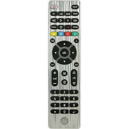 GE Universal Remote Control for Samsung, Vizio, LG, Sony, Sharp, Roku, Apple TV, TCL, Panasonic, Smart TVs, Streaming Players, Blu-ray, DVD, 4-Device,...