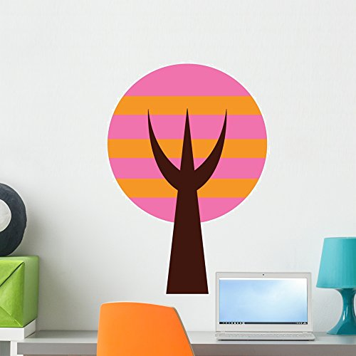 Wallmonkeys WM151713 Abstract Technicolor Tree 7 Peel and Stick Wall Decals (24 in H x 17 in W), Medium