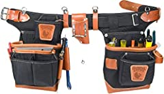 "A new, unique design for production carpenters Main bags are 10"" deep and feature a full leather boot. Fully Adjustable for Pant Waist 32 Inch to 41 Inch. Allows for Seasonal Clothing Changes The leather FatLip keeps the bag formed, open, and protect..."