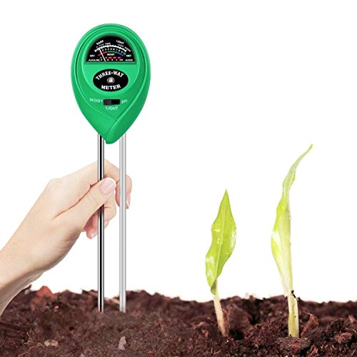 New Moisture Meter Soil Tester, Egfox 3-in-1 PH Acidity Meter Light Tester Gardening Tool for Garden...