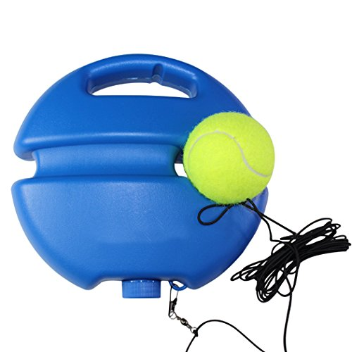 Tennis Training Tool Heavy Duty Self-Study Practice Exercise Ball Tennis Trainer Baseboard Sparring Device with Elastic Rope