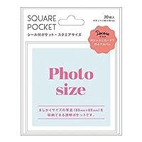 マークス シール付ポケット スクエア写真用サイズ デコラ DCP-PPK03-A