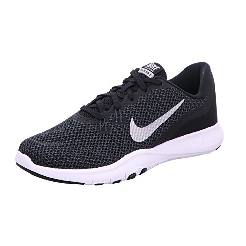Nike Women's Flex Trainer 7 Cross, Black/Metallic Silver-Anthracite-White, 9.5 B(M) US