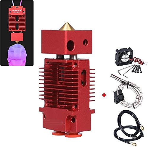 Brand New Brand New Printer Parts BIGTREETECH 2 in 1 Out Hotend Mixed Color Bowden Extruder 3D Brand New Brand New Printer Parts J-Head Hotend 1.75mm Filament Fit for Titan Bulldog MK8 (Color : Red)