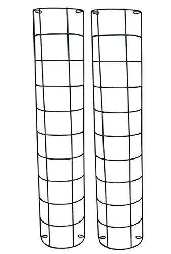 Metal Tube Trellis Semi Circular for Drainpipes (Set of 2)