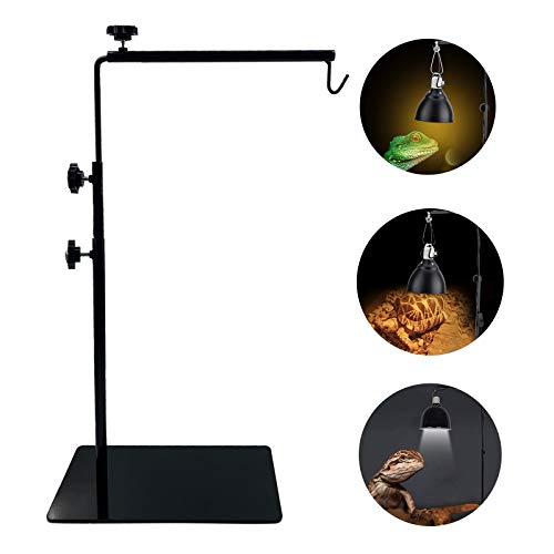 BETAZOOER Reptile Lamp Stand Adjustable Floor Light Holder Stand Landing Lamp Stand Bracket Metal Lamp Support for Reptile Glass Terrarium Heating Light
