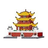 1yess Architecture Micro Building Blocks, World Camping Chermark Modèle 3D Puzzle Jouets DIY Jouets, Cadeaux pour Enfant et Adulte 8bayfa (Color : Yueyang Tower)