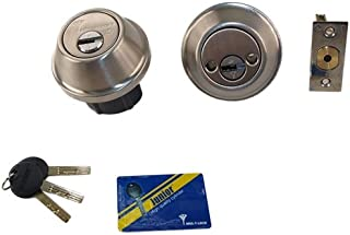 Mul-T-Lock Cronus High Security Grade 2 Double Cylinder Dead-Bolt 2-3/8 or 2-3/4 Adjustable Backset for Commercial and Residential Metal Or Wood Doors (Stainless Steel)