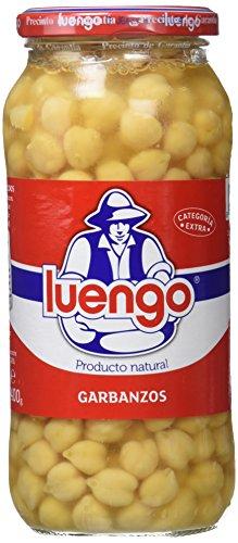 Luengo - Garbanzo Cocido En Frasco De 570 g - Pack de 12