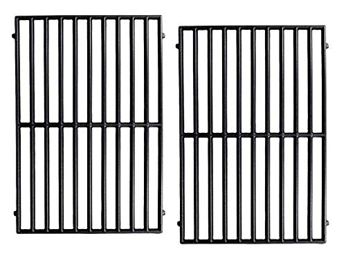 Hongso PCH252 Matte Cast Iron Cooking Grid Replacement for Select Gas Grill Models by Vermont Castings, ProChef, Ellipse and Kenmore Grills, Set of 2