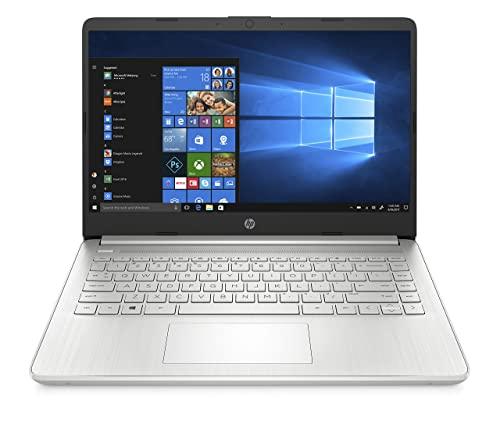 "HP - PC 14s-dq0003sl Notebook, Intel Celeron N4020, RAM 4 GB, SSD 128 GB, Grafica Intel UHD, Windows 10 Home S Mode, Schermo 14"" HD, Casse Audio, Webcam, USB-C, USB, HDMI, Argento"