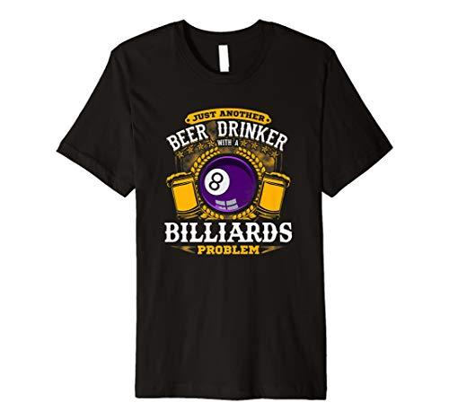 Bier Trinker mit Billard Problem. Funny Pool player Tee