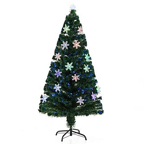 Árbol de Navidad artificial iluminado con fibra óptica LED Multicolor con Juegos de luces