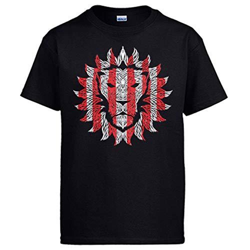 Diver Bebé Camiseta ilustración de león con los Colores del Athletic - Negro, L