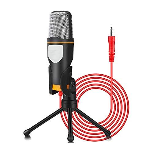 JYDQB Soporte de micrófono, micrófono de Condensador de grabación de Jack de 3,5 mm Profesional Compatible con PC, teléfono portátil