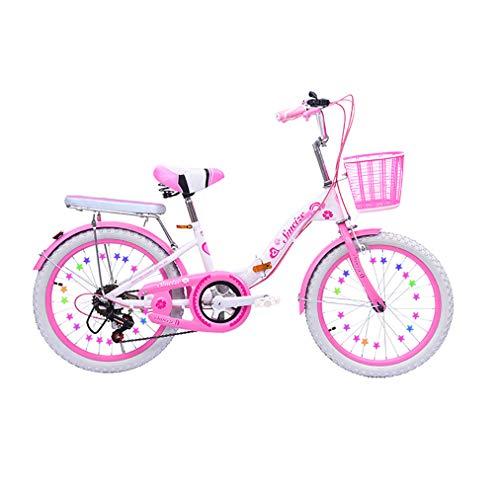 ZBL Bicicletta per Bambini 7-12 Anni Bicicletta da 20 Pollici con Sedile Posteriore a 6 velocità