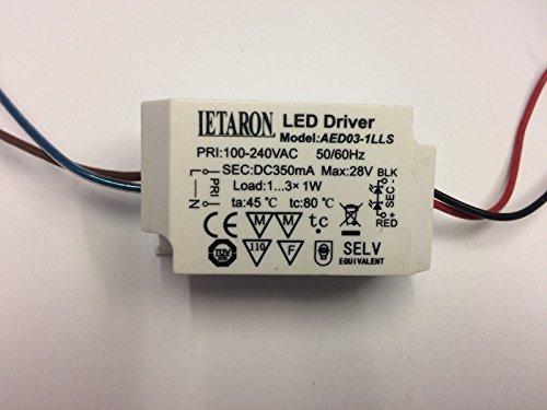 LED Driver LETARON AED03-1LLS 350mA max. 28V 1-3x1W LED Transformator