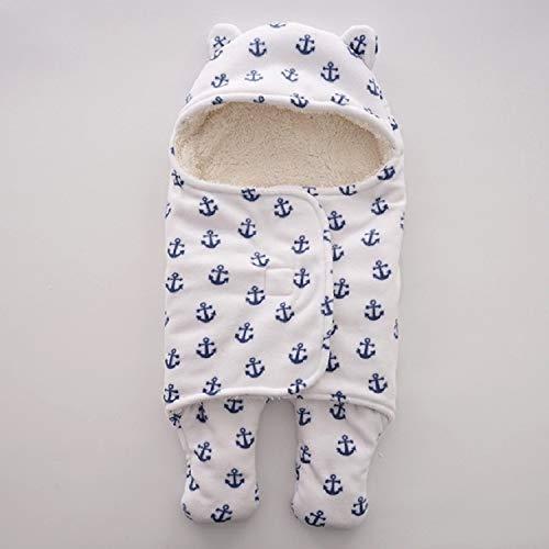 SHL Winter-warme Baby-Schlafsack Kinderwagen Baby-Bettwäsche Accessoires, Größe: groß 78x86cm (Blue Star) XY (Farbe : Anchor)